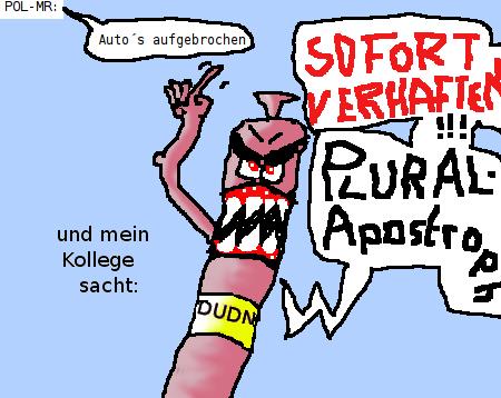 Plural-Apostroph-Katastrophe