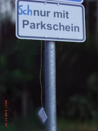 Fundstueck: Schnur mit Parkschein (23.5.2011)