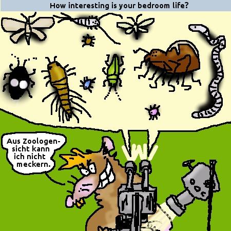 leben im schlafzimmer - zoologisch