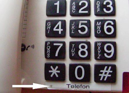 Beschriftung Telefon